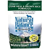 Dick Van Patten's Natural Balance Lid Brown Rice And Lamb Meal Dry Dog Food, 4.5-Pound Bag