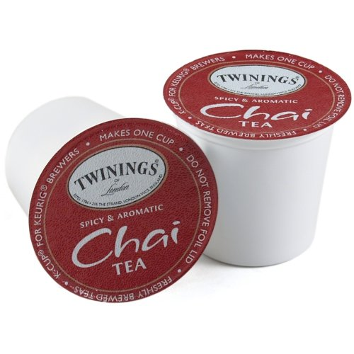 Twinings Chai Decaffeinated K-Cups For Keurig Brewers 96 Count