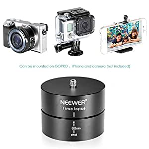Neewer 360 degree 60 Minutes Rotating Tripod Time Lapse Stabilizer for Gopro Hero 1/2/3/3+/4,Digital Cameras and iPhone 6 plus/6/5s/4s/4,Samsung Galaxy S6 edge,S6,S5,S4,S3 Note 4,3