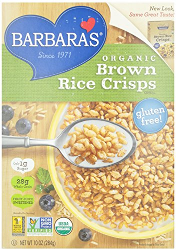 Barbara's Bakery Gluten Free Organic Brown Rice Crisps, 10 oz (Gmo Free Rice Cereal compare prices)