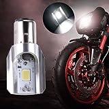 MiniEsting(TM) 9V-85V 1pc H6 BA20D DC 12W COB LED Motorcycle Hi/Lo Beam Headlight Bulb White