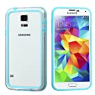 Phonetatoos (TM) for Galaxy S5 Baby Blue/Transparent Clear MyBumper Phone Protector Cover - Lifetime Warranty