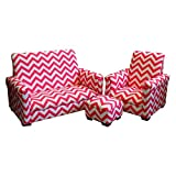 Newco Kids 3 Piece Chevron Toddler Set, Candy Pink