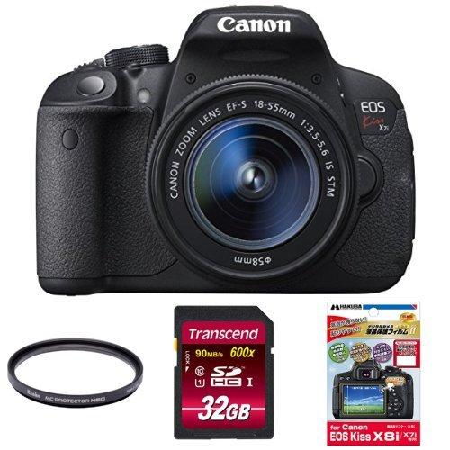 Canon デジタル一眼レフカメラ EOS Kiss X7i レンズキット EF-S18-55mm F3.5-5.6 IS STM付属 + Kenko レンズフィルター MC プロテクター NEO 58mm 他2点セット