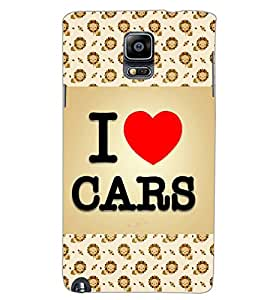 SAMSUNG GALAXY NOTE 3 I LOVE CARS Back Cover by PRINTSWAG