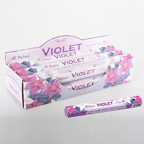 Incienso con aroma a violetas en barritas (20 unidades)