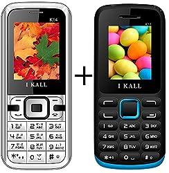 I KALL (K14Black+K11Blue) Set of Two Mobile Combo