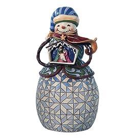 Enesco Jim Shore Heartwood Creek Nativity Snowman Figurine, 10-1/4-Inch