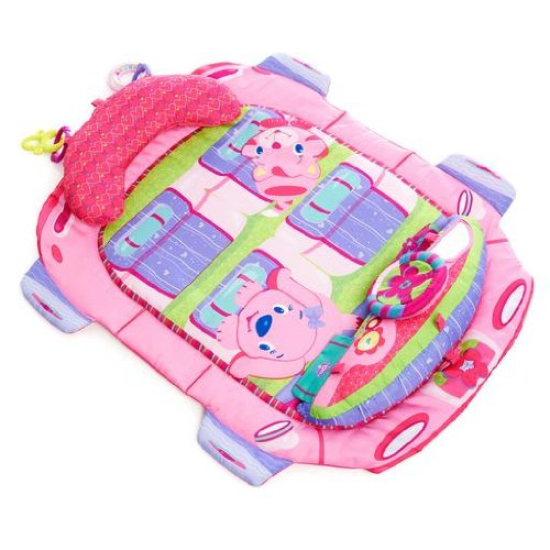 Bright Starts Tummy Cruiser Prop and Play Mat, Pretty In Pink - 1