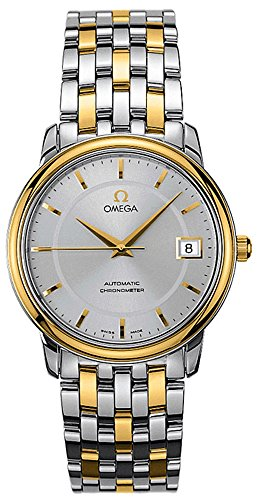 Omega De Ville Prestige Co-Axial 18K Gold & Steel Automatic Chronometer Watch 4300.31.00 (Omega Gold Deville compare prices)