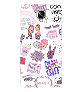 EPICCASE Cool Theme Mobile Back Case Cover For OnePlus Three (Designer Case)