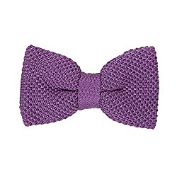 His Honour Knitted Purple Bow Tie