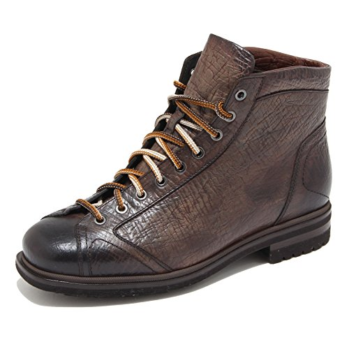 4607M polacchini uomo marroni SANTONI scarpe men shoes [7.5]