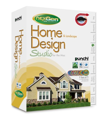 Punch Software Home & Landscape Design Studio for the Mac with NexGen Technology