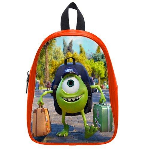 Generic Custom Monsters University Backpack Cases Printed Red School Bag Backpack Fit Short Trip Pu Leather Medium front-929750