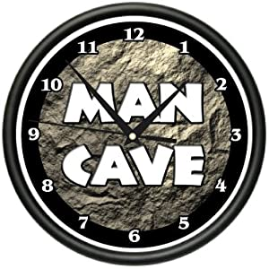 MAN CAVE ~Wall Clock~ sports man room garage sign gift