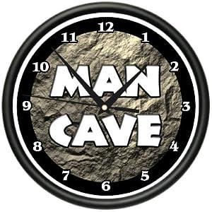 MAN CAVE ~Wall Clock~ sports man room garage sign gift