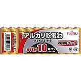 富士通 【ALKALINE】 アルカリ乾電池 単3形 10個パック LR6H(10S)