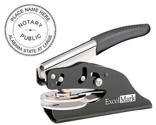ExcelMark Hand Held Notary Embosser - Alabama (Notary Stamp And Seal compare prices)