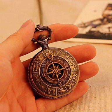 Il vecchio Rom bussola motivo quarzo analogico vintage antica scheda orologi da taschino orologio da uomo 78cm catena steampunk
