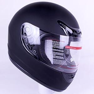 Amazon com matte flat black full face motorcycle helmet dot 2 visors
