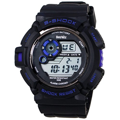 BesWLZ Multi Function Military S-shock Sports Watch LED Analog Digital Waterproof Alarm Blue (Target Watches For Men compare prices)