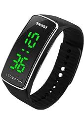 Ninat Sport Watch for Men Boys Girls or Women Waterproof LED Watch,Silver