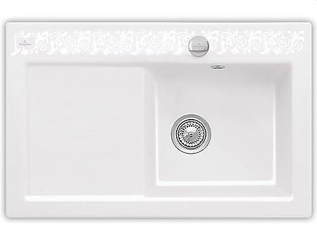 Villeroy Boch Subway 45 &Pearl White Ceramic Sink Kitchen Sink Fitting White