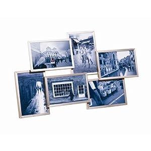 Umbra 306506410 Flo, Cornice multipla per 6 foto in nickel, 10 x 15 cm   cliente recensione Voto