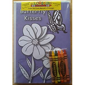 ... Recordable/Colorable Greeting Card - BUTTERFLY KISS