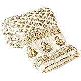 Ethnic Arts Soft and Light Weight 100% Cotton Filled Jaipuri Hand Block Design Cotton Single Bed Razai Quilt