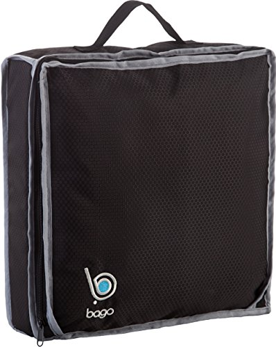Bago Shoe Bags for Travel - Hanging Packing Cubes for Women Man Kids Storage. Modular Pouch for 1 or 2 sets of Shoes (Black) (Modular Travel Storage compare prices)