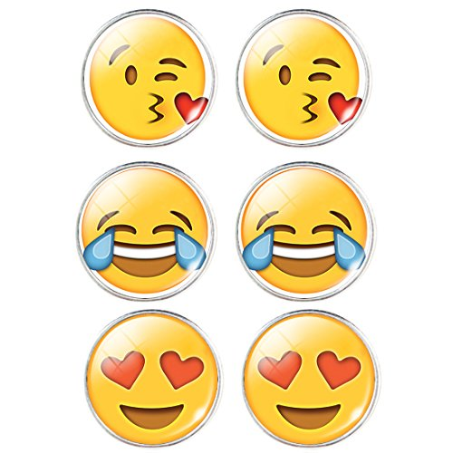 Emoji Face Pin-Back Earrings Set – Assorted Smiley Emoticon Earrings