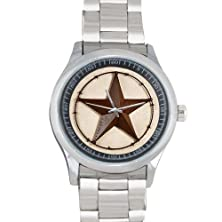 buy 100% Plastic Quartz Watch Gifts Western Texas Star Pattern Metal Watch(40Mm Dia,Stainless Band)
