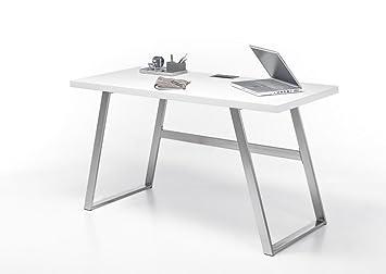 """Beauty.Scouts Schreibtisch """"Sabea"""", Schreibtisch, Arbeitsplatz, Burotisch, Buromöbel, Arbeitsplatz Möbel, Arbeitszimmer, Home Office,weiss oder Asteiche massiv, 140x75x60cm Farbe weiß"""