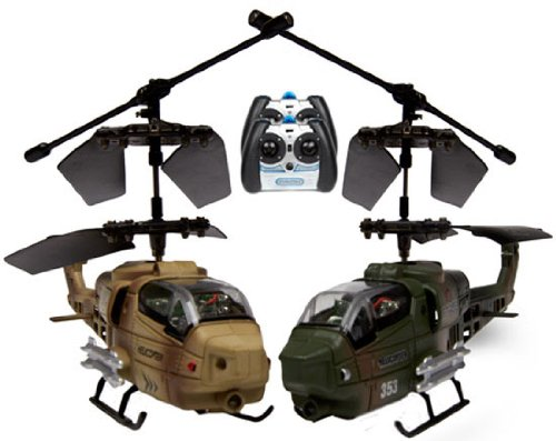World Tech Toys Gyro Nemesis Battle Copters Lazer Tag 3.5CH Electric RTF RC Helicopter, 2-Pack