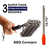BBQ Coverpro 17Inch Stainless Steel Grill Brush