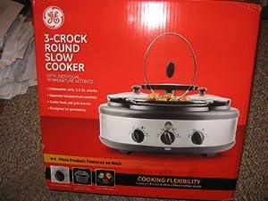 ge 3 crock slow cooker manual