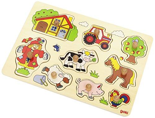 Goki 57995 - Fattoria, Puzzle in legno