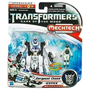Sergeant Chaos / Icepick Transformers Movie 3 Mechtech Human Alliance HASBRO 29618