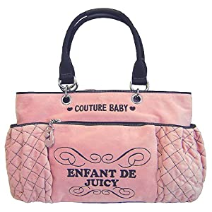 Juicy Couture Pink Velour Baby Diaper Bag