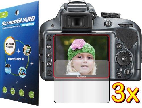 3X Nikon D-Slr D3300 Digital Camera Premium Clear Lcd Screen Protector Guard Shield Kit (No Cutting, Guarmor Brand)