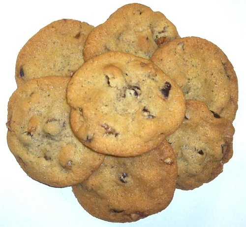Scott's Cakes Chocolate Chip Cookies with Walnuts in a 1 Pound White Box