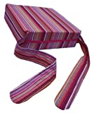 Pomfitis Sitata High Chair Portable Baby Cushion Booster Seat Pad with Cover Pink Stripes