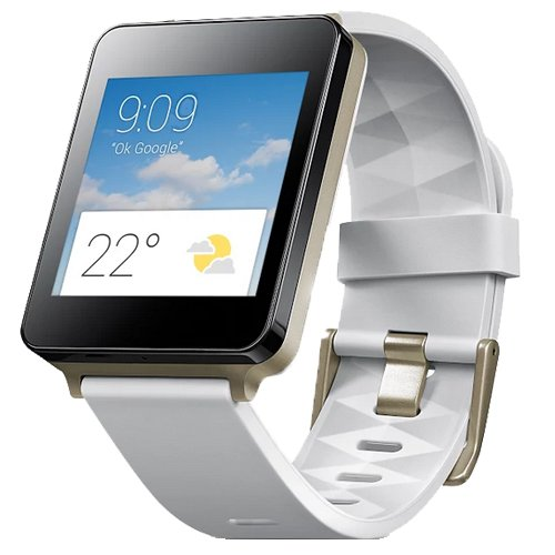 LG G W100 SMART WATCH 4GB WHITE GOLD POWERED BY ANDROID WEAR BRAND NEW
