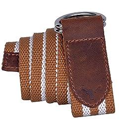 Hidekraft Canvas-Leather Belt for Men and Women