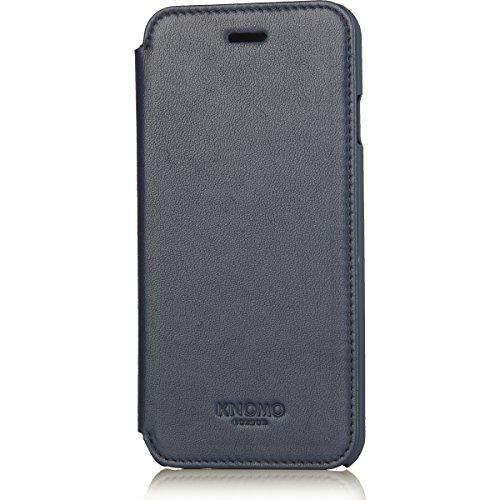 Knomo, Custodia Portafoglio in Pelle per iPhone 6/6s, Blu
