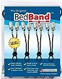 Bed Band Bed Sheet Holder, Gripper, Suspender and Strap - Black, 1 Pack (4 Bands)