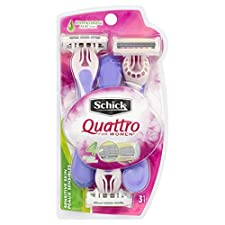 Schick Quattro For Women Razors, Sensitive Skin, 3 razors