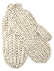 Metallic Knitted Mittens